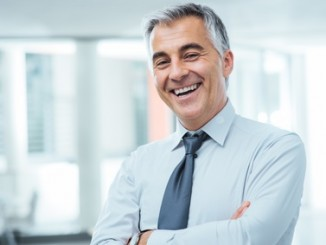 Successful businessman posing